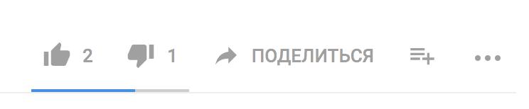 Кнопка поделится на YouTube под видео